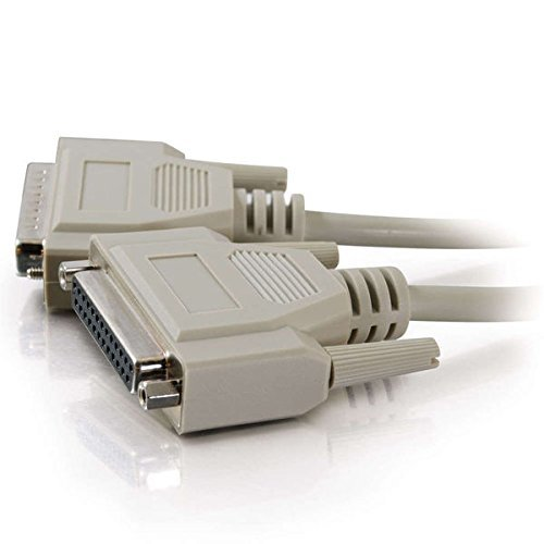 C2G/Cables to Go 02662DB25M/F Serial RS232Verlängerungskabel, Beige (50Füße/15.24Meter) -