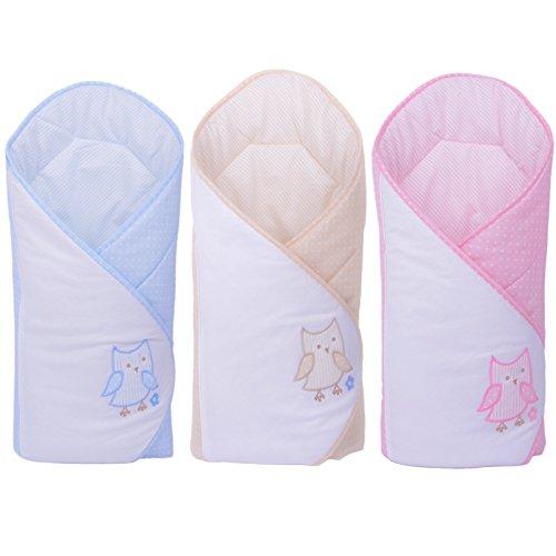 Sevira Kids - Gigoteuse d'emmaillotage Multi-Usage en 100% coton Certifié - Nid d'ange naissance - Brodé- Différent Coloris