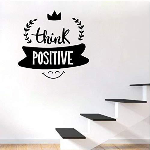 Ajacklove Denken Sie Positive Raum-Wand-Aufkleber 52Cm * 53,7 cm Kunst-Deko-PVC Der Kunst-Zitate (Positive-wand-kunst)