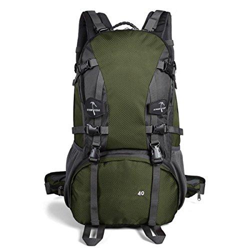 Sporttasche Outdoor Wasserdichte Bergsteigen Rucksack Large Capacity Travel Wandern Klettern Daypack,FruitGreen ArmyGreen