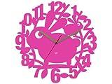 Jip Karlsson JIP0765 Orologio Da Muro Per Bambini Robbie The Rabbit In Plastica Rosa