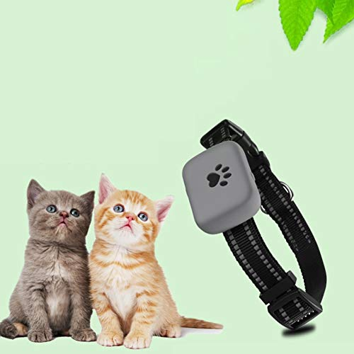 Wrqq Rastreadores De Mascotas para Perros Rastreo GPS Dispositivo En Tiempo Real Anti Perdido Rastreador Localizador Micro Inteligente Alarma Impermeable,Silvergrey,200 * 200 * 100mm