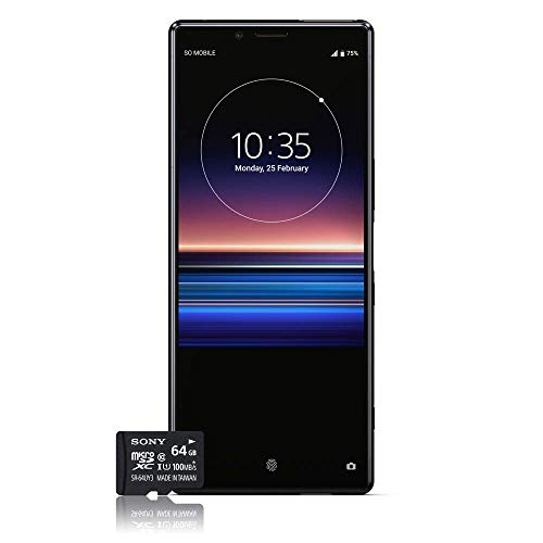 Photo Gallery sony xperia 1 smartphone, 4k hdr oled display da 6,5 pollici, dual-sim, 128gb di memoria, 6 gb ram, android 9.0 + micro sd da 64 gb esclusivo amazon, nero [versione italiana]