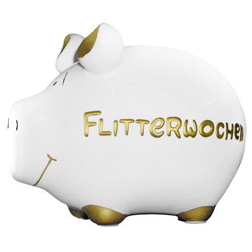 Sparschwein FLITTERWOCHEN / ca. 12,5 cm x 9 cm