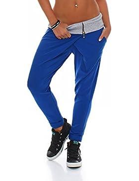 Malito Envolver Pantalón Boyfriend Torcedura Baggy Aladin Bombacho Sudadera 3318 Mujer Talla Única