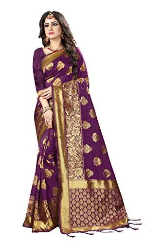 KIMANA Damen Frauen Seide Saree traditionelle Indien Hochzeit Abnutzung Kleid S6457 Seide Saree