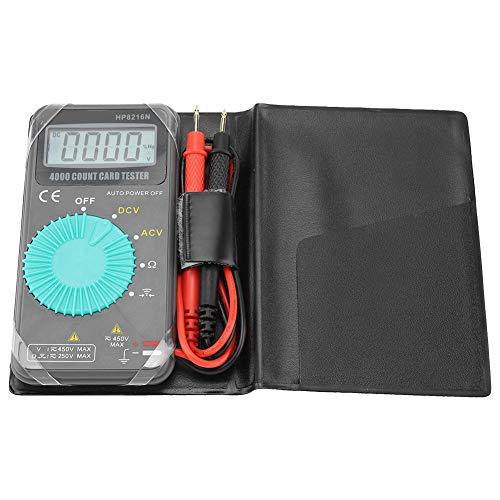 HP8216N Mini Multímetro Digital de Resistencia de Voltaje CA/CC con Bolsillo (sin batería)