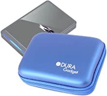 Funda Azul Para Disco Duro Externo Buffalo MiniStation 500GB (HD-PC500) & 1TB (HD-PC1T) De DURAGADGET