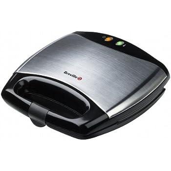 Breville - VST051X - Appareil à Croque Monsieur et à Sandwichs - Noir/Inox 750 W