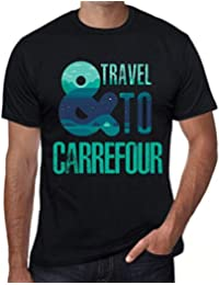 One in the City Hombre Camiseta Vintage T-Shirt Gráfico and Travel To Carrefour Negro
