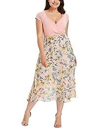 CICIYONER Mujeres Manga Corta Boho Hollow Vestido Lady Beach Summer Sundrss Mini Vestido