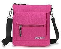 ENKNIGHT Nylon Crossbody Purse Bag for Women Travel Shoulder handbags Rosy