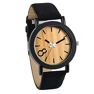 Jewelrywe orologio di design legno per uomo orologio nero for Orologio legno amazon
