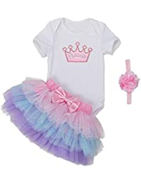 MEIHAOWEI Baby Clothing Sets Play Tutu Dress Set Baby Niñas Princess Clothing Set