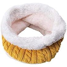 SEXYSHEEP Inverno Infinity Sciarpa scuro a doppio strato morbido pile  foderato Spesso Knit scaldacollo Circle sciarpa 84096463e629