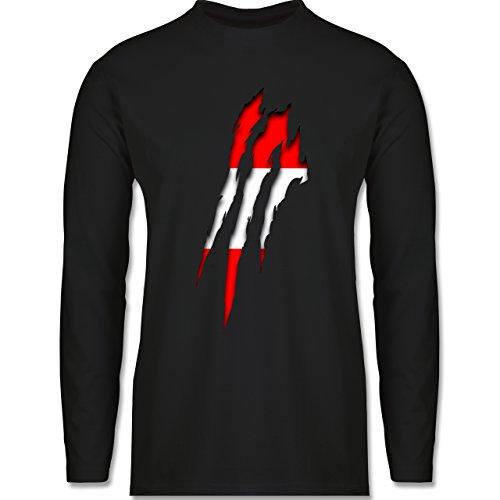 Länder - Österreich Krallenspuren - Longsleeve / langärmeliges T-Shirt für Herren Schwarz