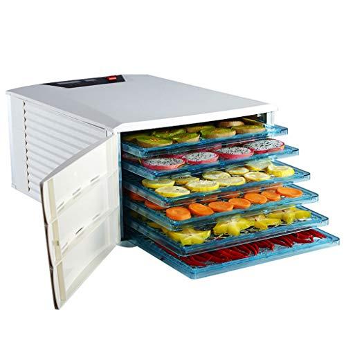 Haushaltsnahrungsmittelkonservierungsmaschine Fruit Dehydrator, elektrische Multi-Funktion Stummschaltung mit 6-Lagen-ABS-Tray Einstellbare Temperatur Timing für Gemüse Fleisch lösliche Bohnenpaste Tr