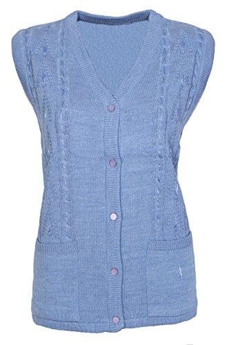 Lets Shop Shop - Gilet - Sans Manche - Femme Mid Blue