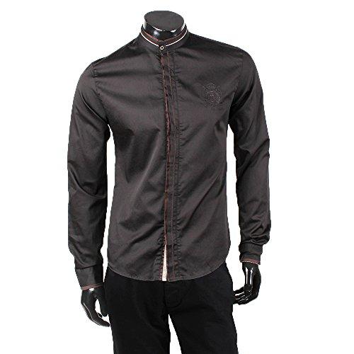 Coonless chemise pour homme col polo t-shirt coupe slim taille s-xXL party nouvelle étiquette - Noir - Medium