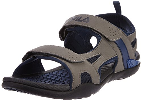 Fila Men's Energy Grey and Navy  Sandals and Floaters -7 UK/India (41 EU)  available at amazon for Rs.1234