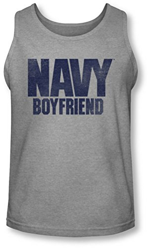 Navy - Herren-Boyfriend Tank-Top Athletic Heather