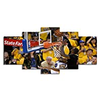 SHINERING 5canvas art basketball games fierce stadium for the living room wall decoration poster frameless, 20cm × 50cm × 1pcs