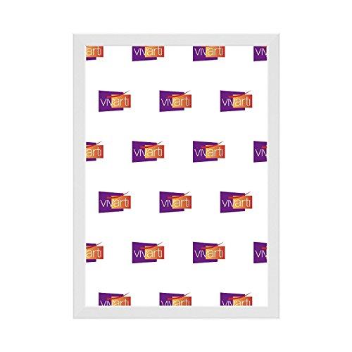 Marco de fotos blanco brillante, 18 x 12 pulgadas