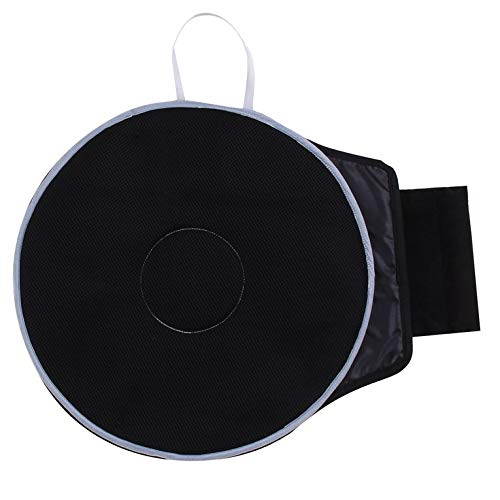 Black Bottom Mat (Goldyqin 360 Degree Rotation Cushion Mats Sandwich Mesh Fabric for Chair Car Office Home Bottom Seats Soft Breathable Chair Cushion - Black)