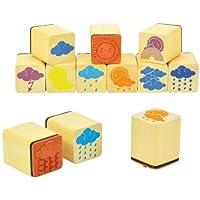 EDUPLAY 220116 Weather Stamp Set of 12