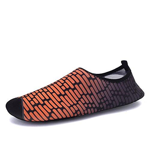 Eagsouni® Chaussures de plage et piscine Chaussure aquatique Sport deau Chausson Water Shoes #6Orange