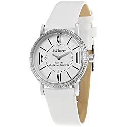 White So Charm Bracelet Ladies Watch Made with SWAROVSKI Crystals from 4