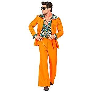 WIDMANN 09404 - Disfraz de años 70 para hombre, color naranja, talla XL
