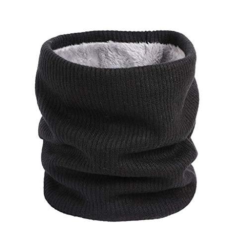 (Vovotrade Top Gestrickter Unisex-Schal Dicker Winter-Schal mit thermischem Halswärmer für Outdoor-Sportarten)