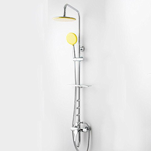 Preisvergleich Produktbild saejj-copper und funktionale Badezimmer Dusche, Hot und Cold Dusche-Kits, Super Deluxe, oben rund, einteiligen Wasserhahn