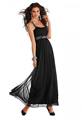 Laura Scott Evening Abendkleid mit Perlen schwarz Größe 46
