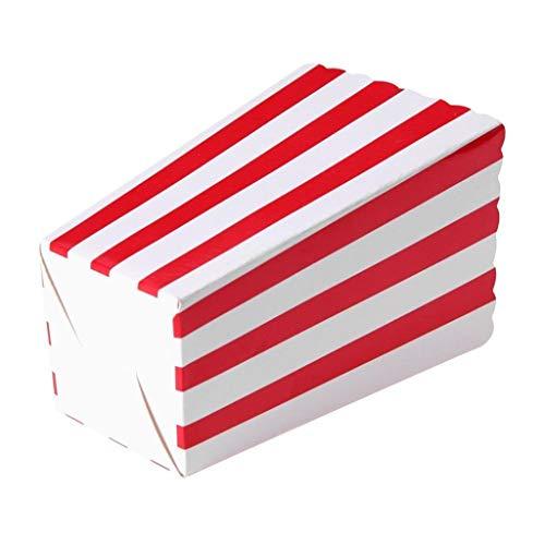 Cajas de Palomitas de Maíz, Webla, Plantilla de Fiesta Mit Dekorativen Elementen Für 24 Stück, Papel Rojo - Del Villa Tiempo De