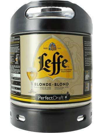 Leffe Blonde Perfect Draft (1 x 6l) Fass, belgisches Abtei Bier, inkl. 5 Euro Pfand MEHRWEG