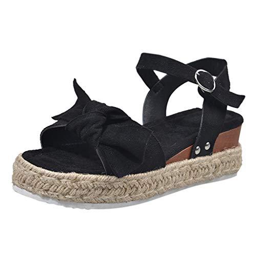 LuckyGirls Chic Sandalias Mujer Plataforma Cuña Verano 2020 Leopardo Zapatos Mujer Tacon Bajo Elegantes...