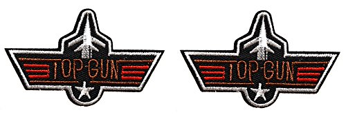 2-ecusson-top-gun-aile-avion-us-air-force-pilote-usa-aviateur-thermocollant-7x45cm-patche-badge
