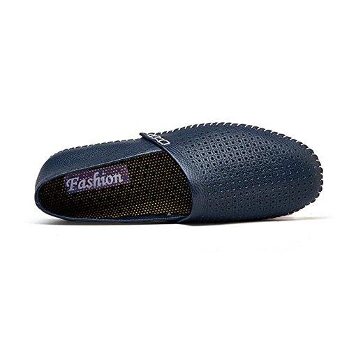 HUAN Hommes Chaussures en Cuir Printemps Eté Automne Mocassins Confort & Slip-Ons Chaussures de Marche Split Joint Pour Casual Bureau & Carrière Blanc Noir D