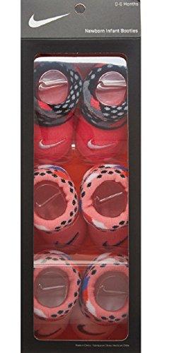 Für Mädchen Nike-socke (Nike Baby Mädchen (0-24 Monate) Socken Pink weiß 0-6 Monate )