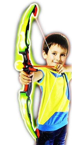Light-up LED Kinder-Sport-Bogen Flash + 3 Pfeile für Kinder ab 6 Jahre (GYD) Indoor/Outdoor für Jungs