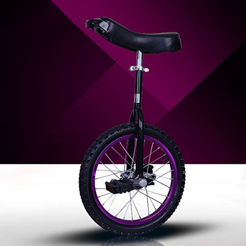 "Lahshion Wheel Trainer Einrad, Freestyle Einrad 16\""/ 18\"" (Lila/Gelb/Blau),Purple,18inches"