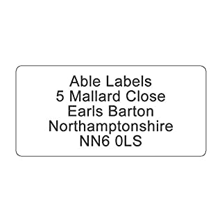 19x40mm Address Labels - Black Text - On A4 Sheets (96)