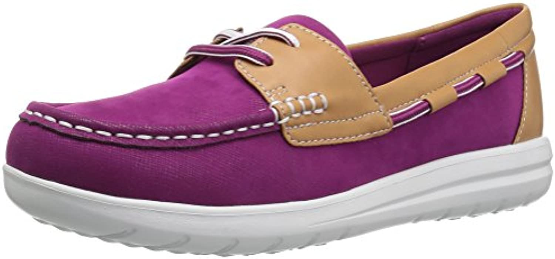 Clarks Wouomo Jocolin Vista Boat scarpe, Deep Fuchsia Synthetic, 7.5 7.5 7.5 Wide US | Design moderno  285d0f