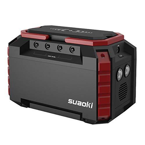 SUAOKI Generatore Portatile Solare 150Wh/40500mAh, QC3.0 Accumulatore di Energia, 3 modalità Ricaricabile 4 Uscita DC 1 AC, 4 Porte USB, Torcia LED di Emergenza