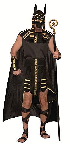 shoperama 4-teiliges Herren Kostüm Ägyptischer Gott Anubis Gr. M/L König Ägypter Verkleidung Totengott Mythologie Gottheit