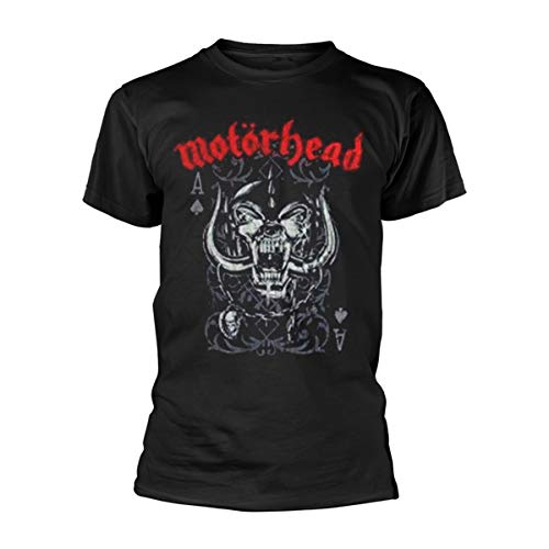 Motorhead Playing Card Camiseta Manga Corta, Negro, Medium para...