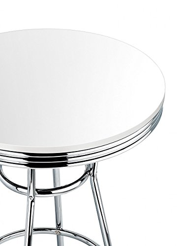 Detroit-American-Diner-style-table-de-bar-rtro-blanc