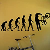 Ajcwhml Vinyl Wallpaper Sticker BMX Evolution Bike Bicycle X Decals Home Decor Adesivo Art Repetable Decoration 57X145Cm